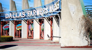 The main entry at the Dallas Farmers Market