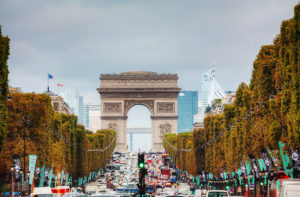 The Arc de Triomphe de l'Etoile is one of the most famous monuments in Paris and stands in the centre of the Place Charles de Gaulle