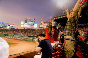 Boston - May 30: Fans Do The Wave At Historic Fenway Park During