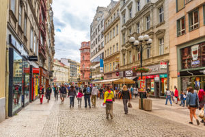 PRAGUE, CZECH REPUBLIC - 21 JUNE 2014: People on the streets of